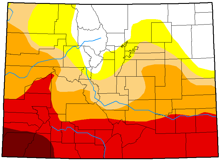 MAP Colorado Drought Conditions April 24, 2018