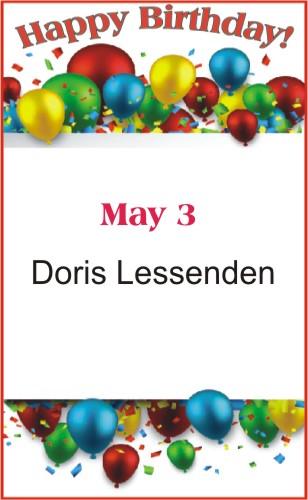 Happy Birthday to Lessenden