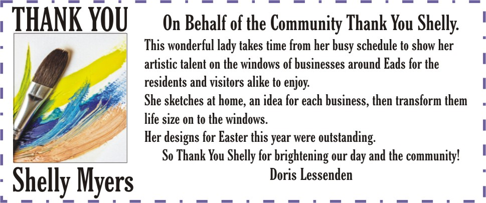 AD Thank you Shelly Myers