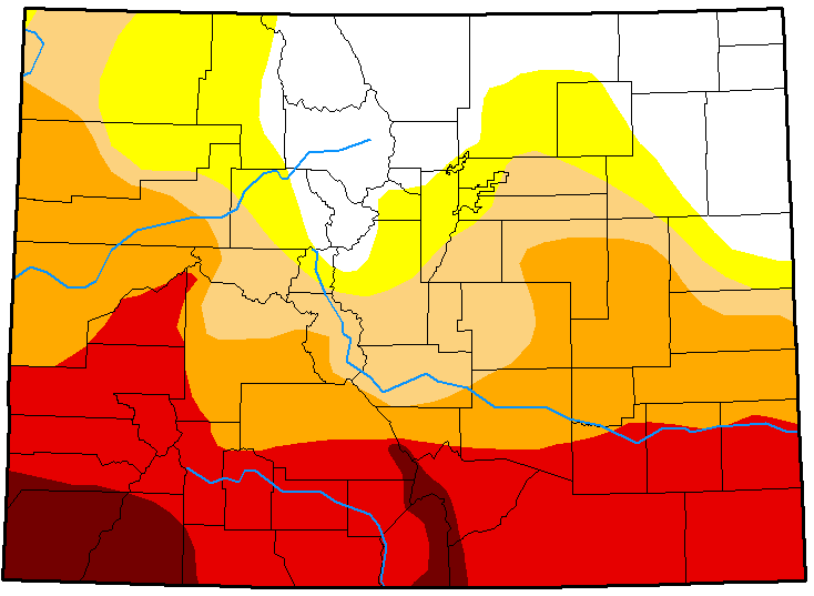 MAP Colorado Drought Conditions May 1, 2018