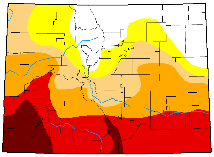 MAP Colorado Drought Conditions May 8, 2018