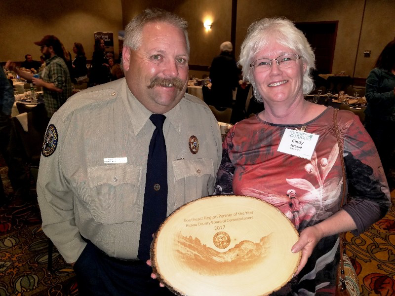 PICT Kiowa County Commissioners Named Partner of the Year - CPW