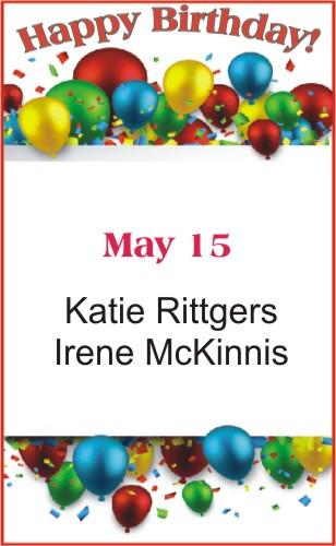 Happy Birthday to Rittgers McKinnis