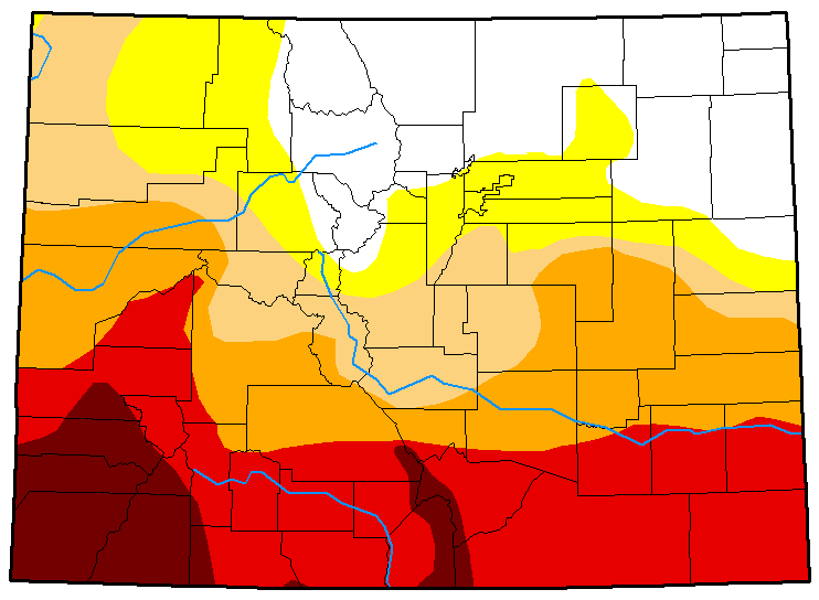 MAP Colorado Drought Conditions May 15, 2018