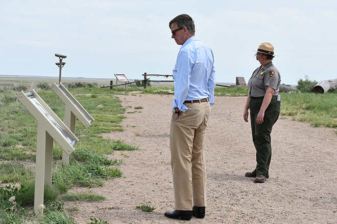 PICT Governor Hickenlooper at Sand Creek Site - Chris Sorensen