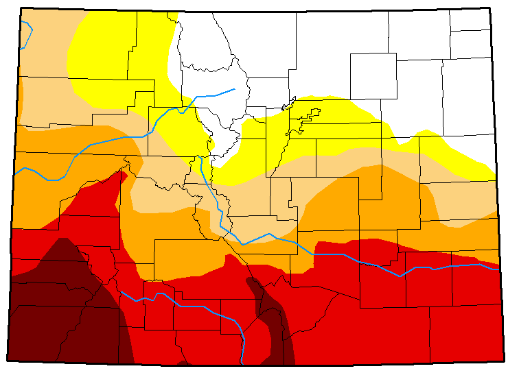 MAP Colorado Drought Conditions May 22, 2018