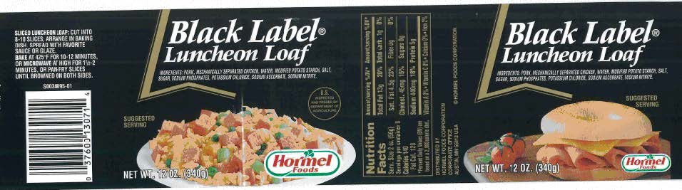 PICT Black Label Luncheon Loaf Label