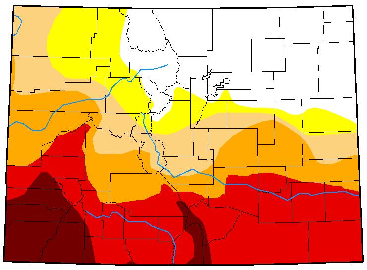 MAP Colorado Drought Conditions June 1, 2018