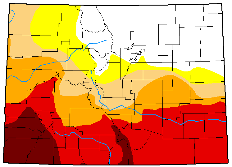 MAP Colorado Drought Conditions - June 5, 2018