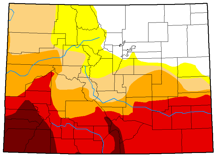 MAP Colorado Drought Conditions - June 12, 2018