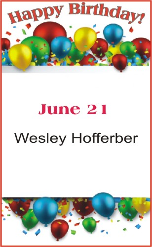 Happy Birthday to Hofferber