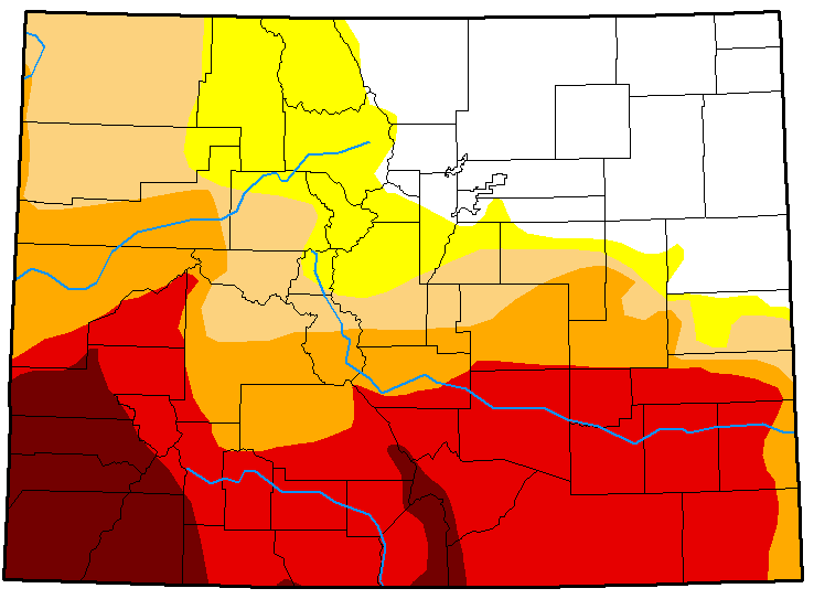 MAP Colorado Drought Conditions - June 26, 2018