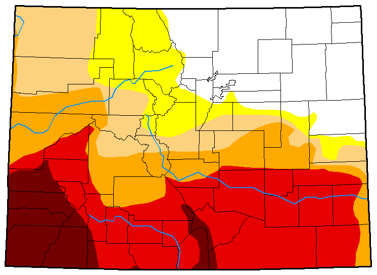 MAP Colorado Drought Conditions - July 3, 2018