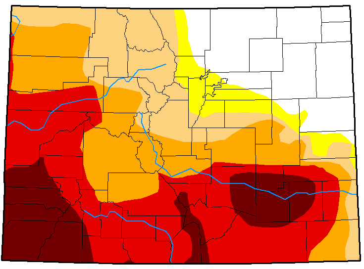 MAP Colorado Drought Conditions - July 10, 2018