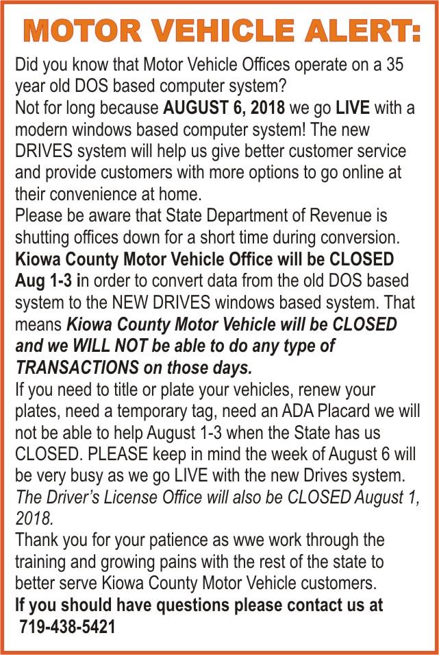 ADV - Motor Vehicle Alert