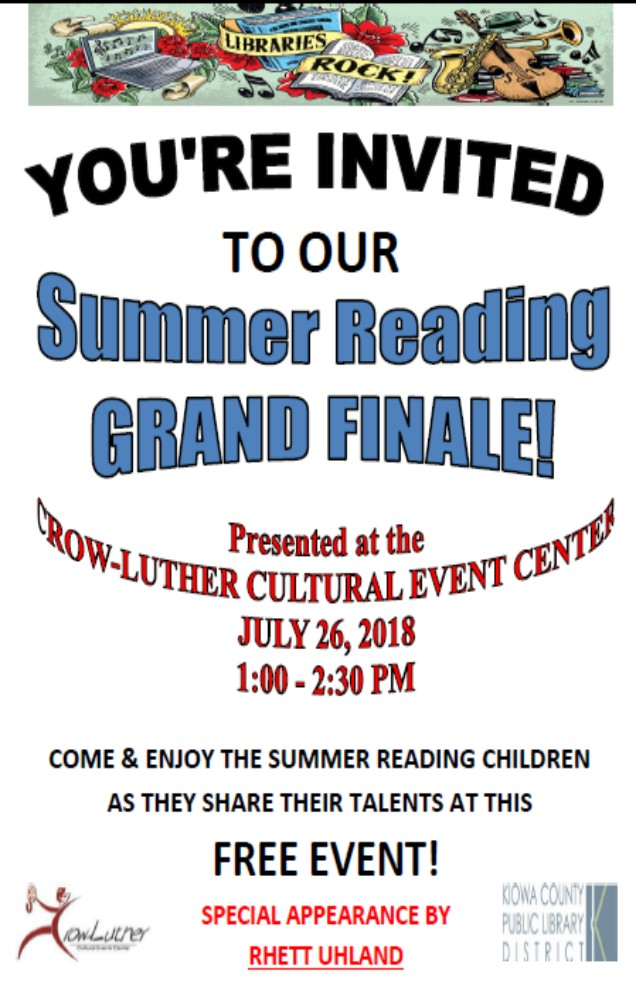 ADV - Library Summer Reading Finale 2018