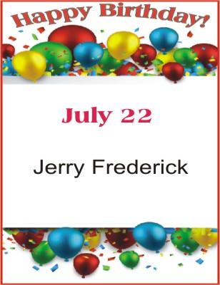 Happy Birthday to Frederick
