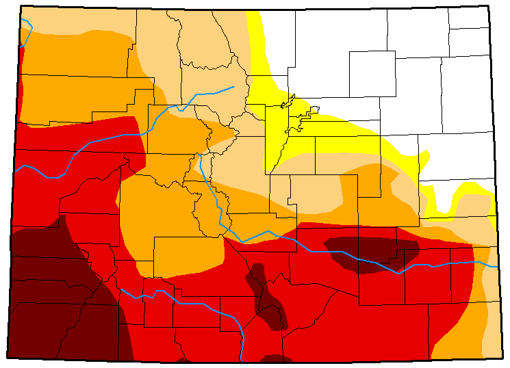 MAP Colorado Drought Conditions - July 24, 2018