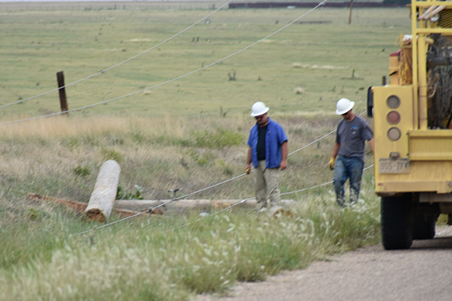 2018-07-28 PICT Power Line Repair Inspecting Damaged Poles - Chris Sorensen