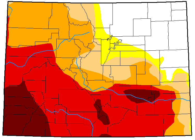 MAP Colorado Drought Conditions - July 31, 2018