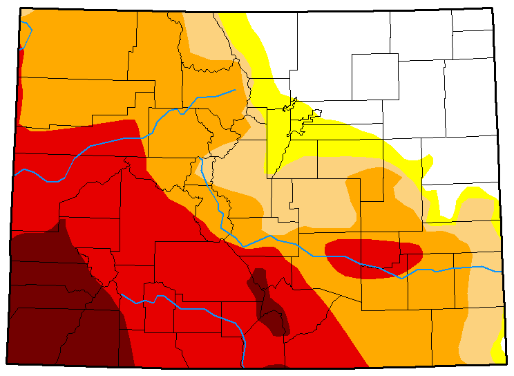 MAP Colorado Drought Conditions - August 7, 2018