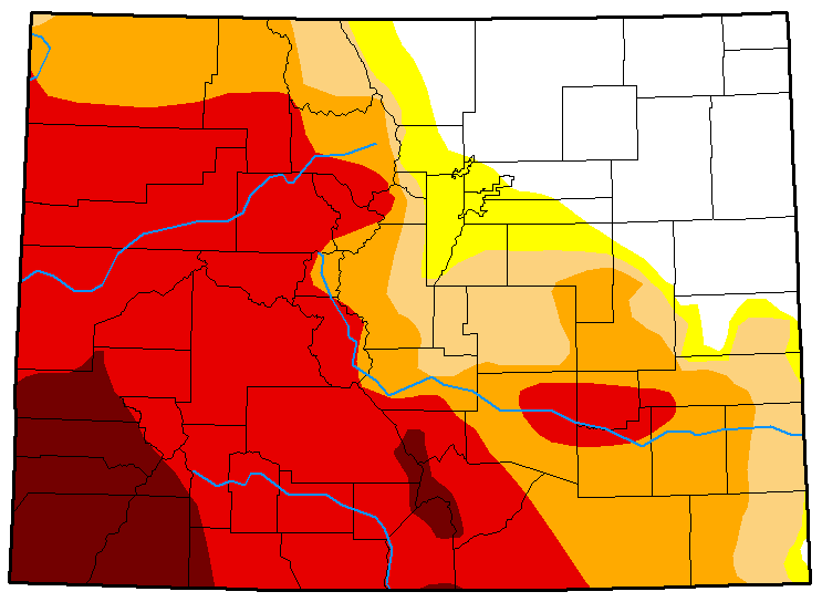 MAP Colorado Drought Conditions - August 14, 2018
