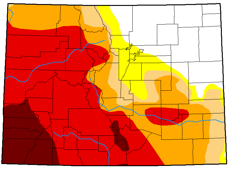 MAP Colorado Drought Conditions - August 21, 2018