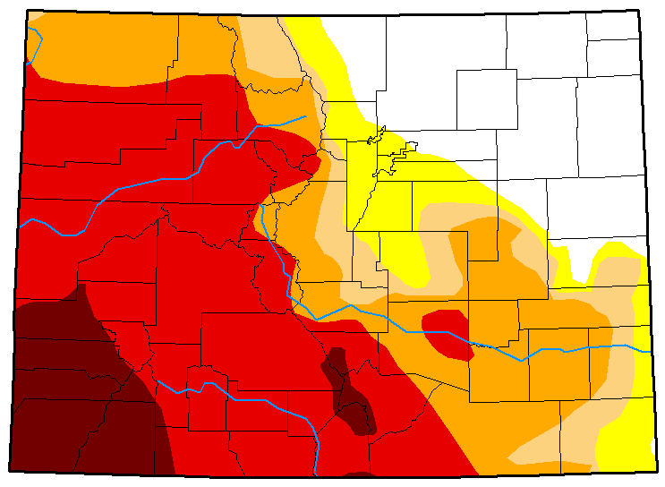 MAP Colorado Drought Conditions - August 28, 2018