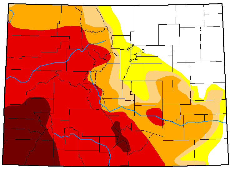 MAP Colorado Drought Conditions - September 11, 2018