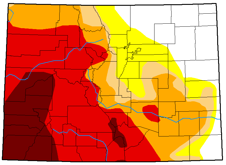 2018-09-21 MAP Colorado Drought Conditions - September 18, 2018