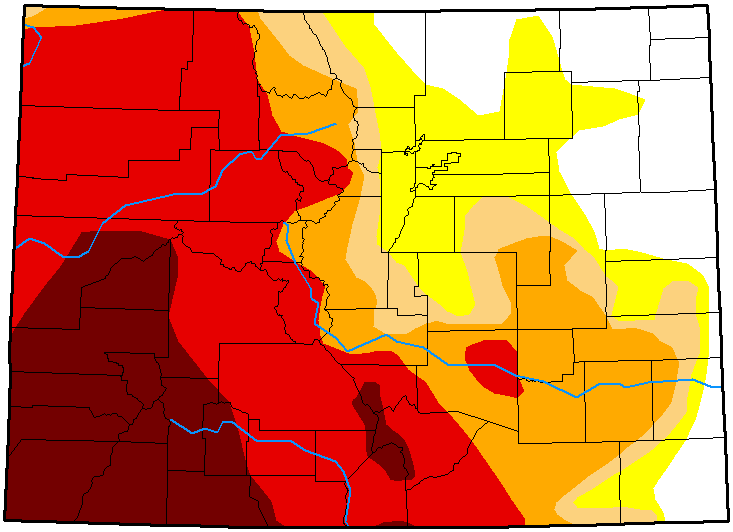 MAP Colorado Drought Conditions - September 25, 2018