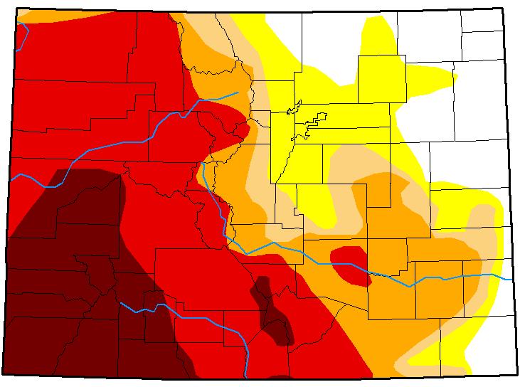 MAP Colorado Drought Conditions - October 2, 2018