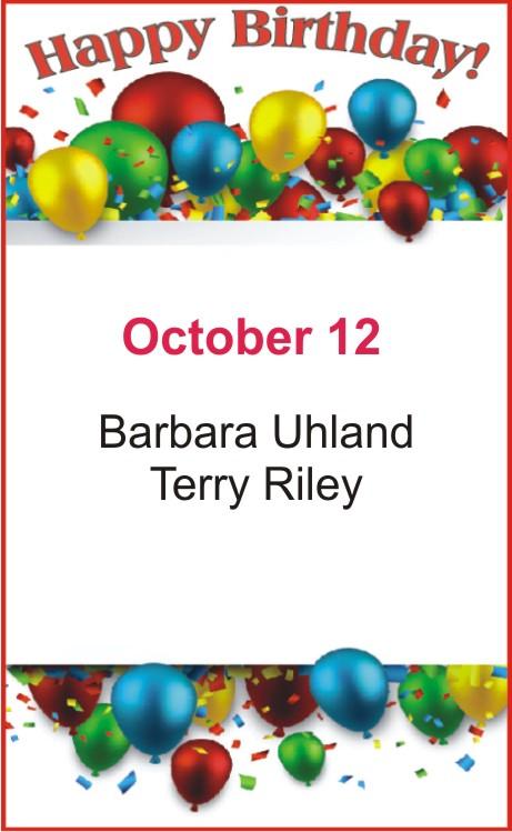 Happy Birthday to Uhland Riley
