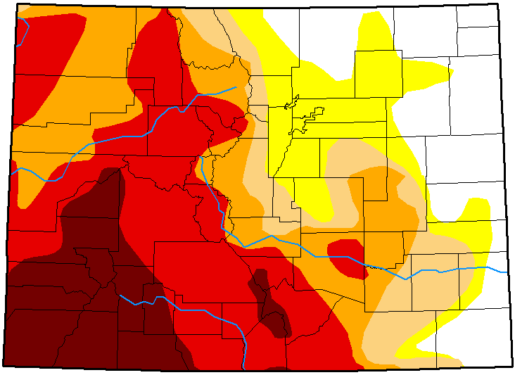 MAP Colorado Drought Conditions - October 9, 2018