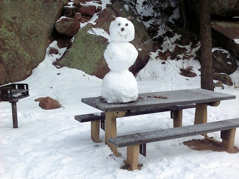 PICT Snowman Camping Picnic Table - CPW