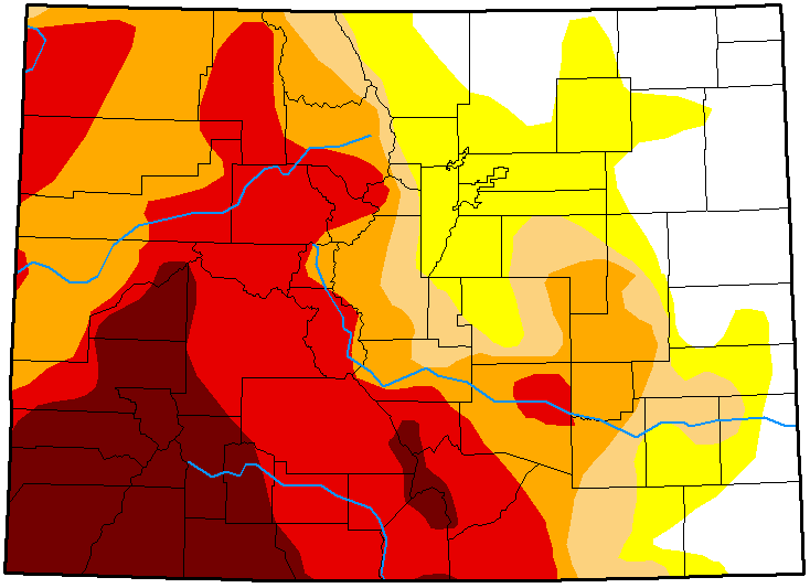 MAP Colorado Drought Conditions - October 23, 2018