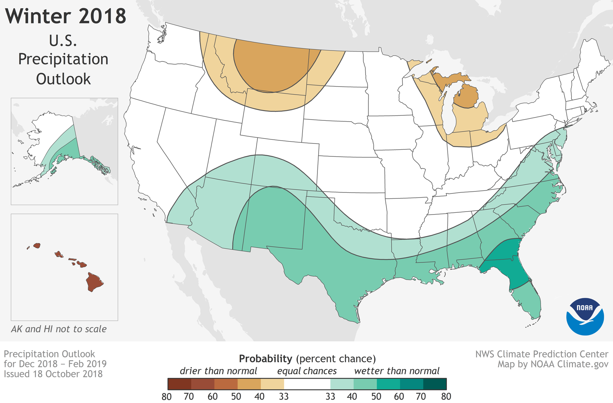 MAP Winter 2018 Precipitation Outlook