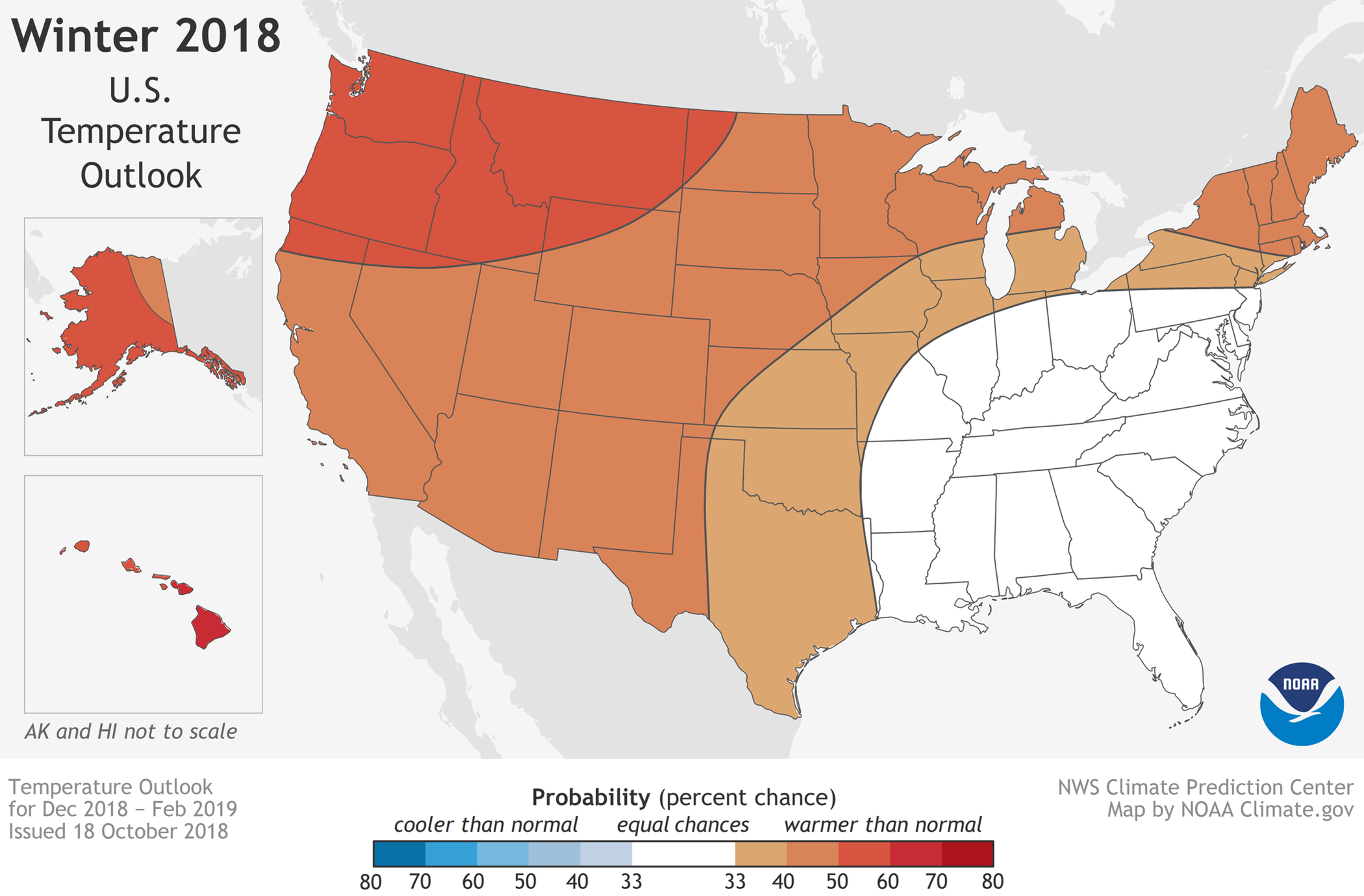 MAP Winter 2018 Temperature Outlook