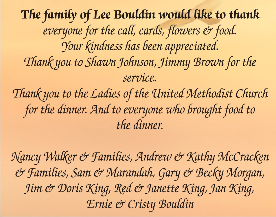 COT Family of Lee Bouldin