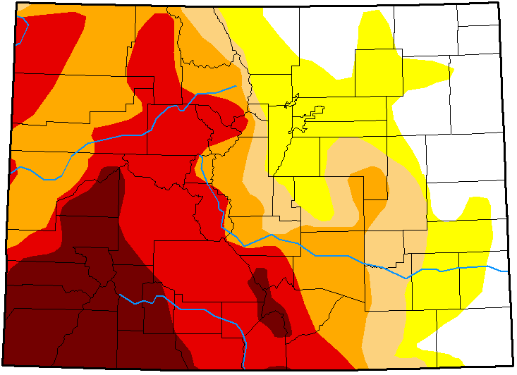 MAP Colorado Drought Conditions - October 30, 2018