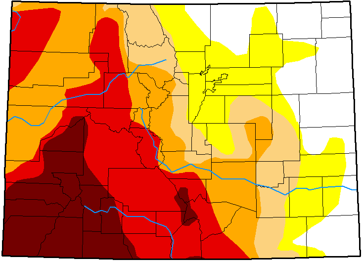 MAP Colorado Drought Conditions - November 6, 2018