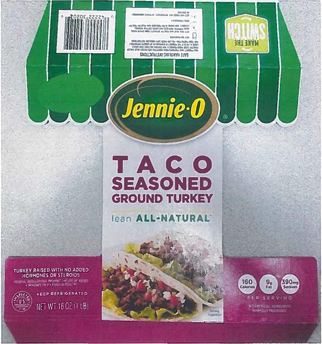 PICT Jennie-O Ground Turkey Label example