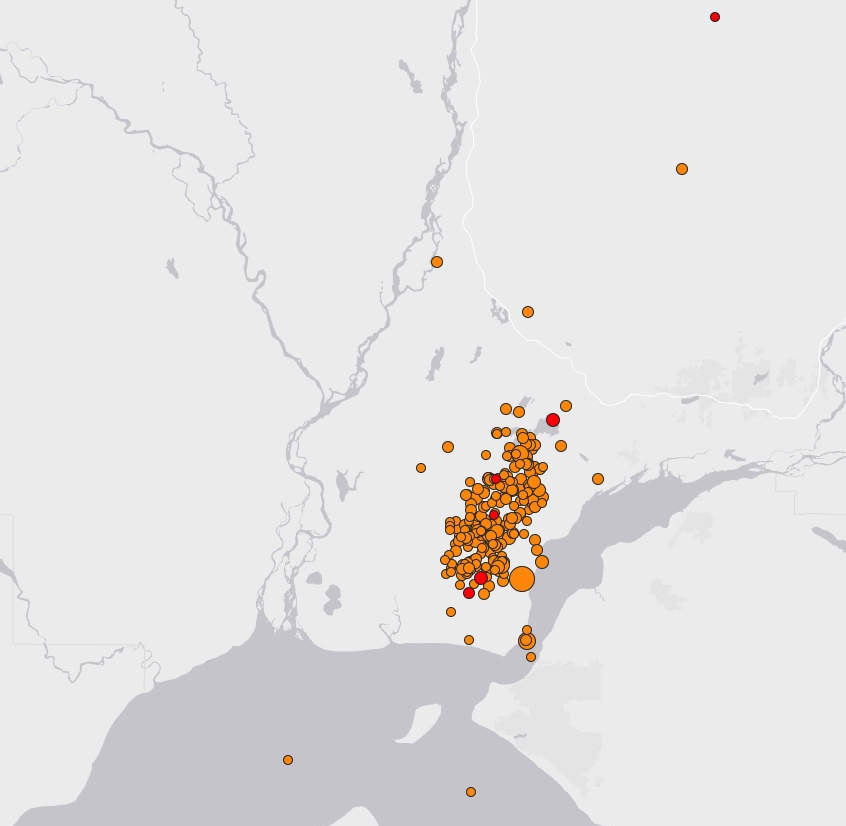 MAP Earthquakes near Anchorage Alaska - USGS