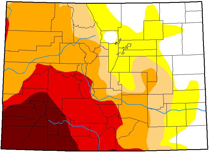 MAP Colorado Drought Conditions - December 4, 2018