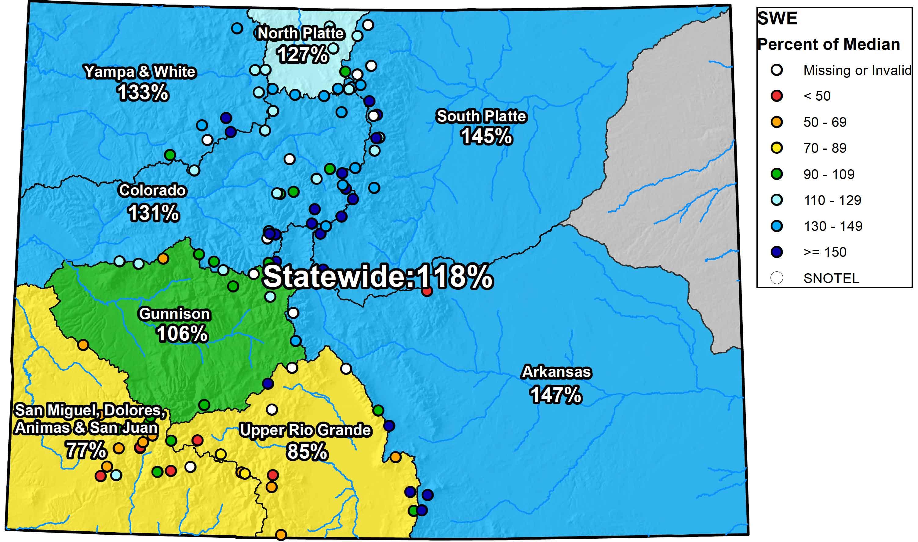 MAP Colorado Snowtel Report - December 6, 2018