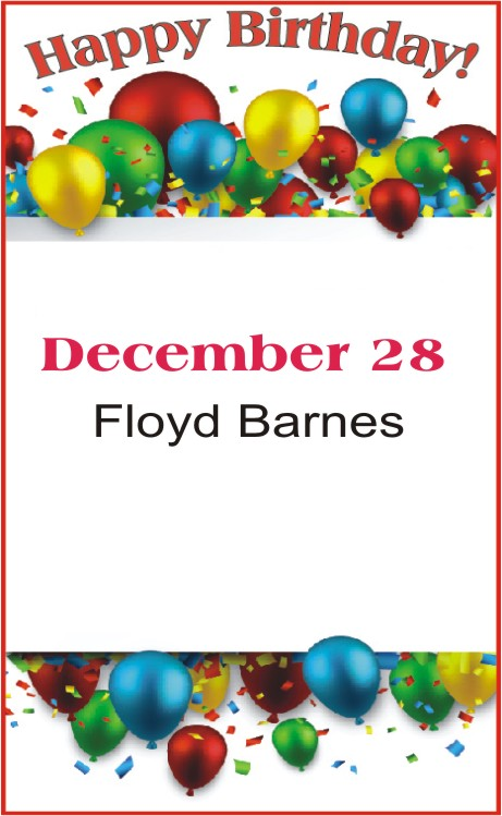 Happy Birthday to Barnes