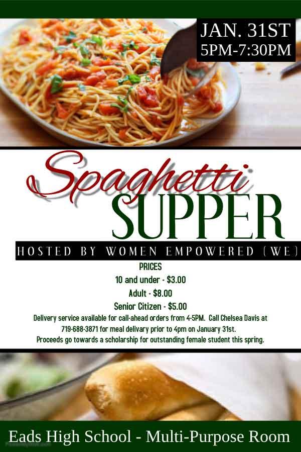 AD Spaghetti Dinner