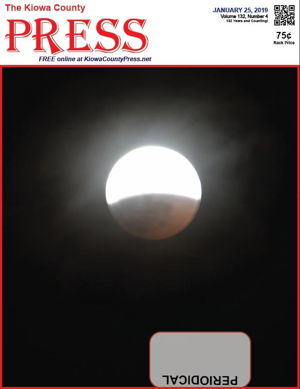 Photo of the Week - 2019-01-25 - Sunday night Super Blood Wolf Moon over Kiowa County, Colorado