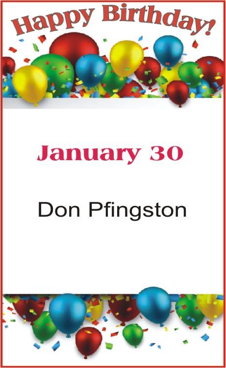 Happy Birthday to Pfingston
