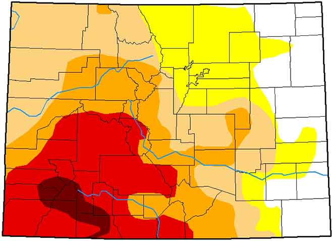 MAP 6xJ1 Colorado Drought Conditions - January 29, 2019